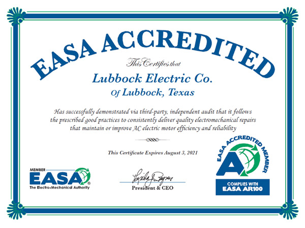 EASA Accreditation Certificate 2020 SMALL