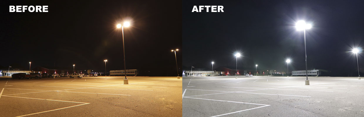 The Difference with LED Lighting is Night and Day!