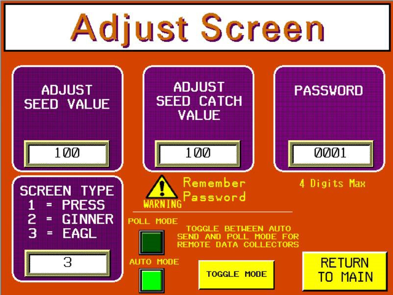 Seed Scale Adjust Screen