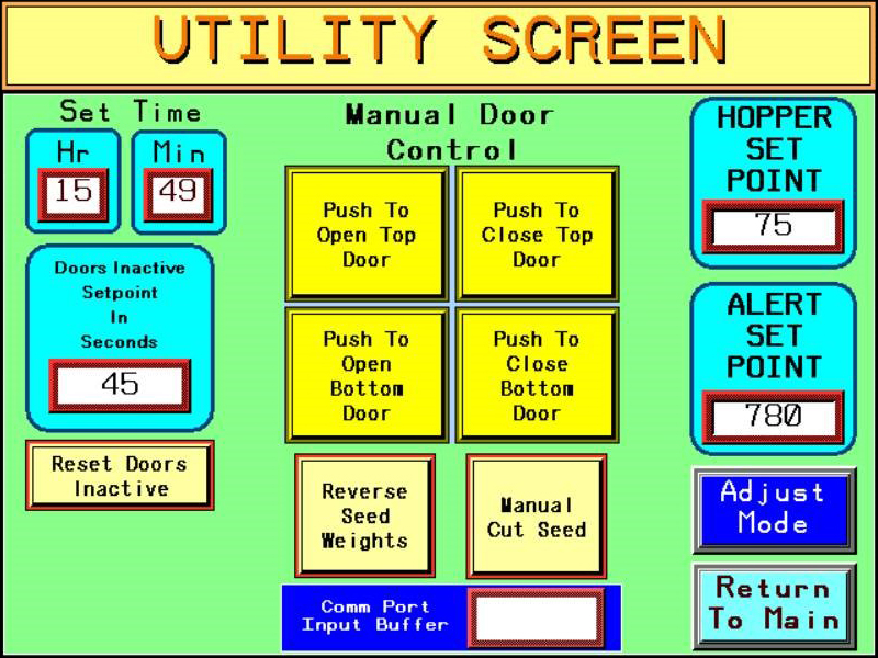 Seed Scale Utility Screen